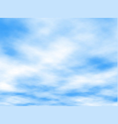white clouds vector image
