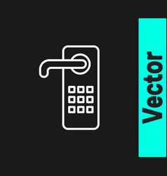 white line digital door lock with wireless vector image