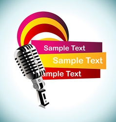 abstract mic background vector image vector image