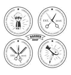 barber shop labels isolated on white background vector image