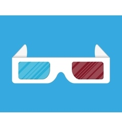 Cinema paper stereo 3d glasses vector image vector image
