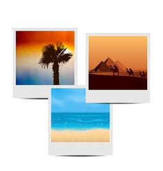 Photoframes with summertime background vector image