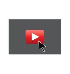 play video concept symbol vector image