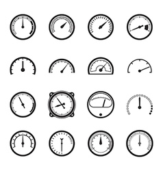 Set of tachometer icons vector image