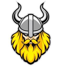 viking warrior head mascot vector image
