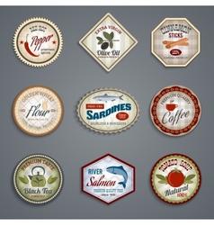 Food labels set vector