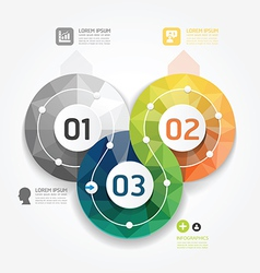 Geometric Modern Design Minimal style infographic vector image vector image