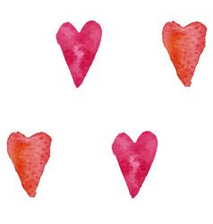 pattern watercolor hearts vector image