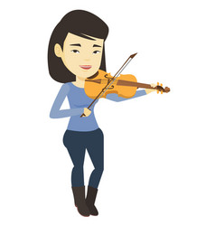 woman playing violin vector image vector image