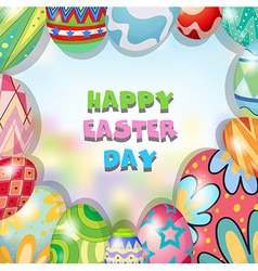 Border design with easter theme vector image vector image