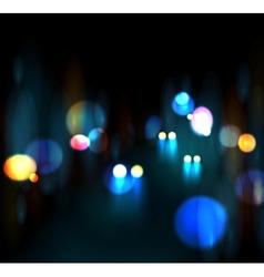 City nightlife vector image