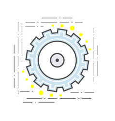 gear pinion flat line modern icon sign vector image vector image