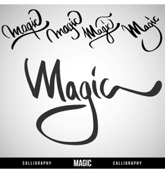 Lettering magic For themes vector image