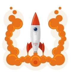 Rocket launch symbol of business startup vector image