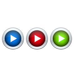 set of buttons with the image of a triangle vector image