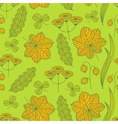 Summer grass pattern vector image vector image