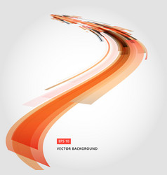 abstract background element in red and orange vector image vector image