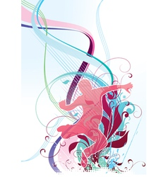 abstraction with the person vector image vector image