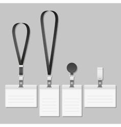 badge Lanyard name tag holder vector image vector image