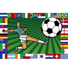 Championship South Africa soccer cup poster vector image vector image