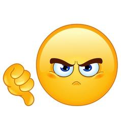 Dislike emoticon vector