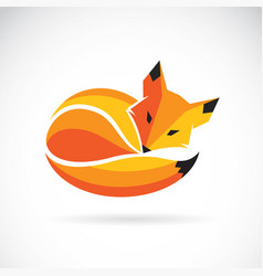 fox design on a white background wild animals vector image vector image