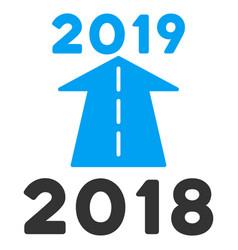 2019 future road flat icon vector