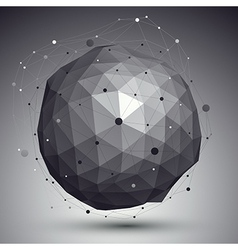 3D mesh modern style abstract background spherical vector