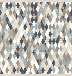 Abstract geo pattern seamless diamond shapes vector