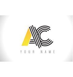 Ac black lines letter logo creative line letters vector