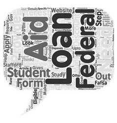 Apply for a Student Loan text background wordcloud vector image