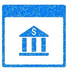 Bank Building Calendar Page Grainy Texture Icon vector image