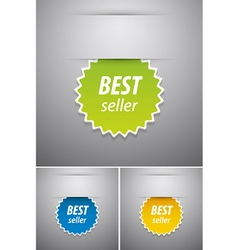 Best seller tag vector image