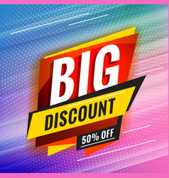 Big discount promotional concept template for vector