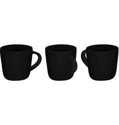 Black mug template vector