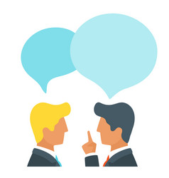 chatting or discussing news vector image