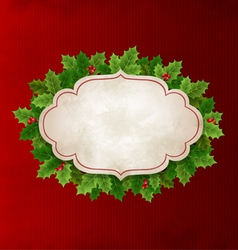 Christmas Holly leaves vector image