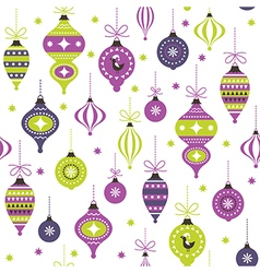 christmas toys seamless pattern vector image