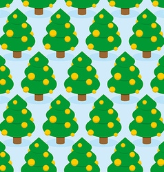 Christmas Tree seamless pattern Holiday wood vector image