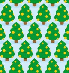 Christmas tree seamless pattern holiday wood vector