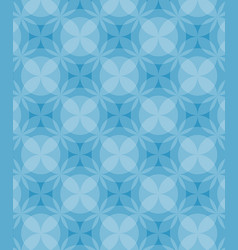 circles pattern blue background vector image
