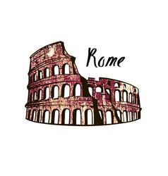 Colosseum rome vector