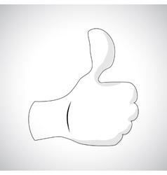 Comics Hand icon vector image