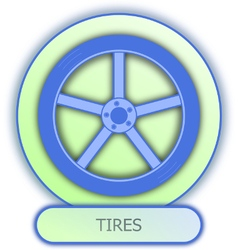 Commercial icons and symbols of car parts - Tires vector