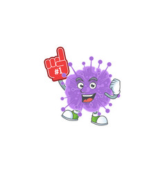 Coronavirus influenza presented with foam finger vector