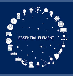 creative essential element icon background vector image