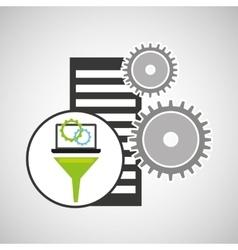 Database setting analysis computer gear vector