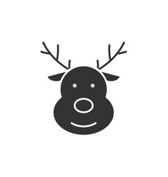 deer black icon vector image