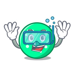 diving circle character cartoon style vector image