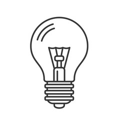 electric light bulb icon line style vector image